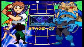 getlinkyoutube.com-Marvel Super Heroes vs Street Fighter (PSX) - Sakura/Shadow Longplay