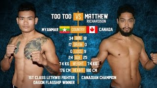 getlinkyoutube.com-Too Too vs Matthew (Canada), Myanmar Lethwei Fight, 2015, Lekkha Moun, Burmese Boxing