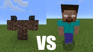 getlinkyoutube.com-What Happens When Herobrine Fight Against The Wither? - Minecraft PE (Pocket Edition)