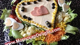 getlinkyoutube.com-Moroccan Garden Salad  - سلطة راقية للمناسبات/سلطة البستان المغربية - salade du jardin.