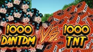 getlinkyoutube.com-Minecraft: 1000 TNT VS 1000 Evil DanTDM Robots!