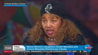 Winnie Mandela's daughters, Zenani and Zindzi Mandela pay tribute