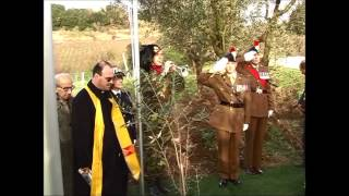 17 febbraio 2014, Monumento ai Caduti ad Aprilia  Roger Waters private tribute to his father