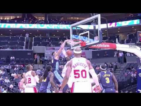 Javale McGee dunks on Biyombo's face (Mar. 30, 2012)