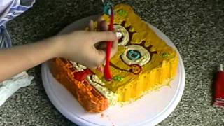 getlinkyoutube.com-spongebob cake