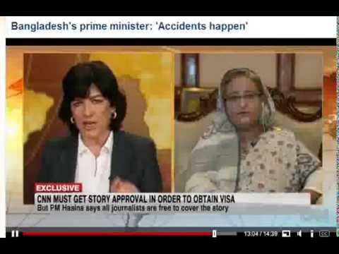 Amanpour grills Hasina over deaths of garment workers in Bangladesh Savar