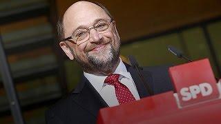 Schulz contra Merkel.