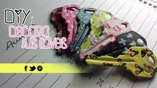 getlinkyoutube.com-DIY: Decora tus llaves | Akari Beauty