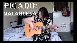 Picado exercise - Malaguena salerosa (guitar lesson) with FREE TAB! ✔