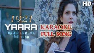 Yaara tu mujhmein - 1921 full karaoke song