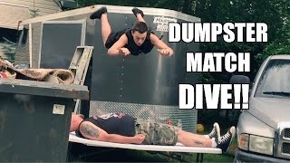 getlinkyoutube.com-DUMPSTER MATCH TABLE DIVE! Epic Backyard Wrestling Action!