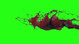 getlinkyoutube.com-⇒ Футаж кровь, Зелёный Фон HD / Footage blood, Green Screen HD ⇐