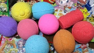 getlinkyoutube.com-Bath ball Surprise Eggs Pokemon Ultraman anpanman Disney びっくらたまご ポケモン アンパンマン ウルトラマン ディズニー バスボール
