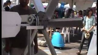 getlinkyoutube.com-Wind Turbine from Fan Motor of Inverter Aircondition