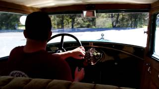 1930 ford model a inside  view road test