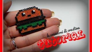 getlinkyoutube.com-Tutorial Panino Kawaii Mc Donald's con Hamburger con Hama Beads - www.perlinedastirare.it