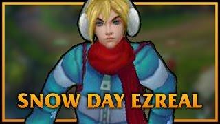 getlinkyoutube.com-Snow Day Ezreal LoL Custom Skin ShowCase