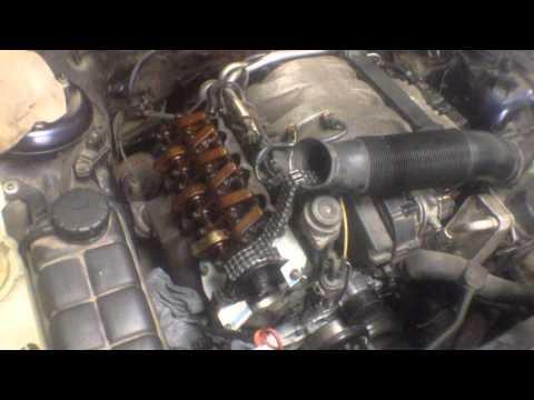 Замена цепи грм на двигателе мерседес M112-M113