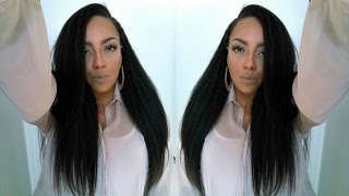 getlinkyoutube.com-Unboxing & Install Affordable Kinky Straight Hair ft  Bestlacewigs