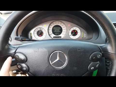 Как сбросить ошибку давления шин W211