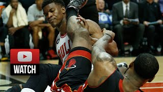 getlinkyoutube.com-2014.03.09 - Jimmy Butler vs LeBron James Battle Highlights - Bulls vs Heat