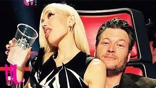 getlinkyoutube.com-Gwen Stefani & Blake Shelton Flirting Interrupted By Adam Levine On 'The Voice'