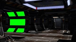 getlinkyoutube.com-Spaceship Interior with sound - green screen set C