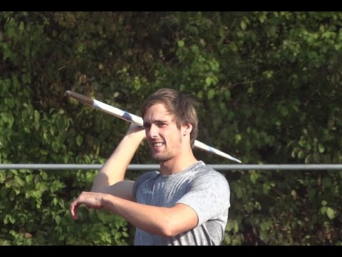Javelin technic throwing training Timothy Herman 19 aug.2015