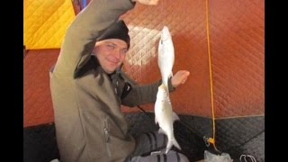 getlinkyoutube.com-Рыбалка на Балхаше - Вобла со льда, база Зика