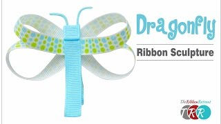 getlinkyoutube.com-How to Make a Dragonfly Ribbon Sculpture - TheRibbonRetreat.com