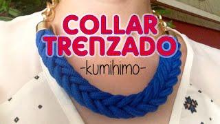 getlinkyoutube.com-DIY: Collar trenzado kumihimo - Kumihimo braided necklace