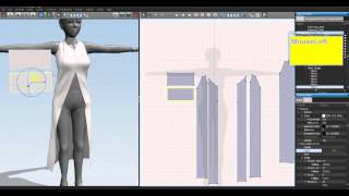 getlinkyoutube.com-Making clothes in Marvelous Designer 2 for Second life : Long Coat -Pac included-