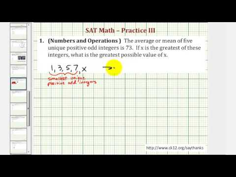 SAT Math (Numbers and Operations) - Practice 3.1