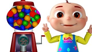 getlinkyoutube.com-Five Little Babies Using Ball Machine | Nursery Rhymes & Kids Songs | Compilation