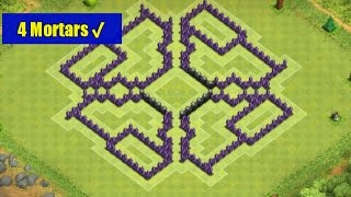 getlinkyoutube.com-Clash of Clans-Best Town Hall Level 8 Farming Base (The Hole) [4 Mortars/2014]