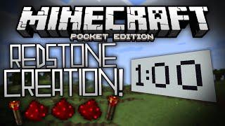 getlinkyoutube.com-REDSTONE TIMER & PASSCODE LOCK in MCPE!!! - Redstone Creations - Minecraft Pocket Edition