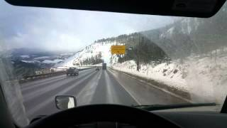 getlinkyoutube.com-HOW TO use engine brakes on steep downhill with auto trans in Freightliner, Kenworth, Peterbilt