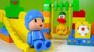 getlinkyoutube.com-Pocoyo Park NEW Block Labo World Block Bandai - Juguetes de Pocoyo