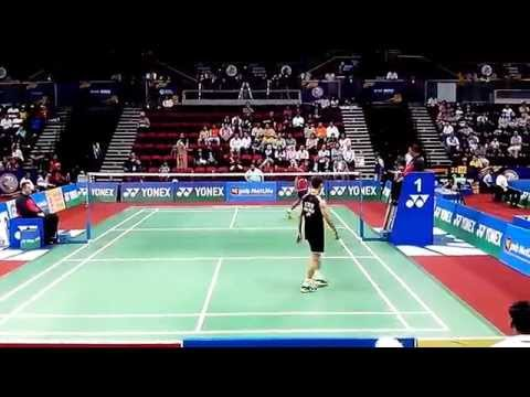 Lee Chong Wei vs Sourabh Verma 2/2 | Best Badminton Perfect Angle Match | BWF India Open 2014 MS,R16