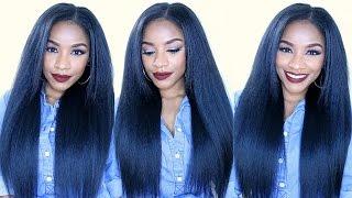 getlinkyoutube.com-Kinky Straight Hair Under $20⎮Kima Classic Volum