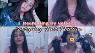 Recreating Everyday Hair Routine