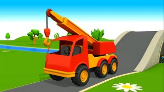 getlinkyoutube.com-Camiones grandes para niños en español - Big trucks for kids in Spanish