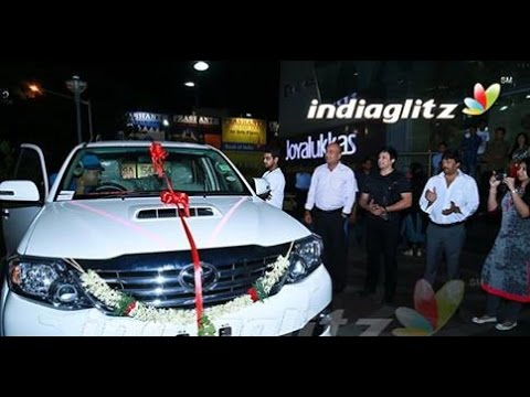 Prasanth gifts Toyota Fortuner to Thaman   Saahasam Movie Songs   Hot CInema News
