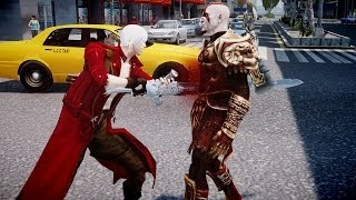 getlinkyoutube.com-Dante VS Kratos - Devil May Cry VS God of War - Grand Theft Auto