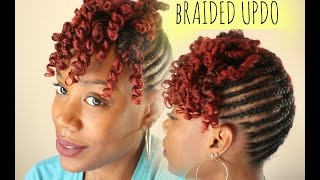 getlinkyoutube.com-NATURAL HAIR | BRAIDED UPDO WITH CURLY BANG