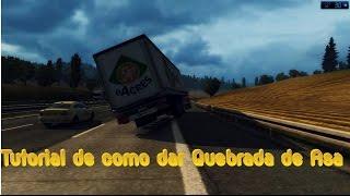 getlinkyoutube.com-Euro Truck Simulator 2 - Tutorial de como dar Quebrada de Asa
