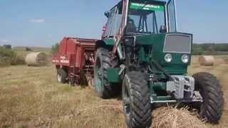 getlinkyoutube.com-Jumz 4x4+ Welger Rp12S Lithuania/ЮМЗ 4x4 TURBO