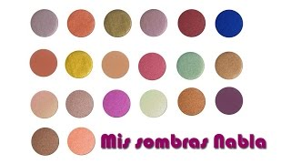 getlinkyoutube.com-Mis sombras Nabla (swatches)