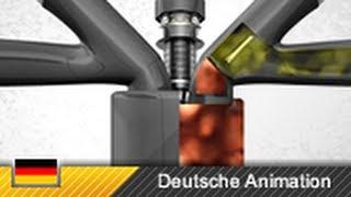 getlinkyoutube.com-Viertaktmotor / 4-Takt-Motor / Ottomotor - Funktion (Animation)