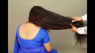 Passionate Long Hair Play by Man of Super Thick Hair